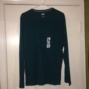 Old Navy Teal Long Sleeve Shirt- M